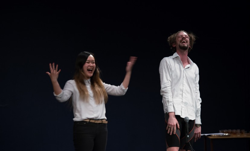 Hans Christian van Nijkerk / Hiroko Tsuchimoto, YOU CAN (NOT) DO IT (ALONE). , 2017. Performance, Fylkingen, Stockholm. Photo: Hironori Tsukue