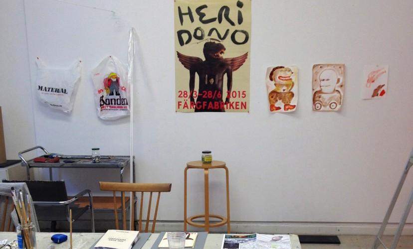 Heri Dono at the Nordic Guest Studio Malongen