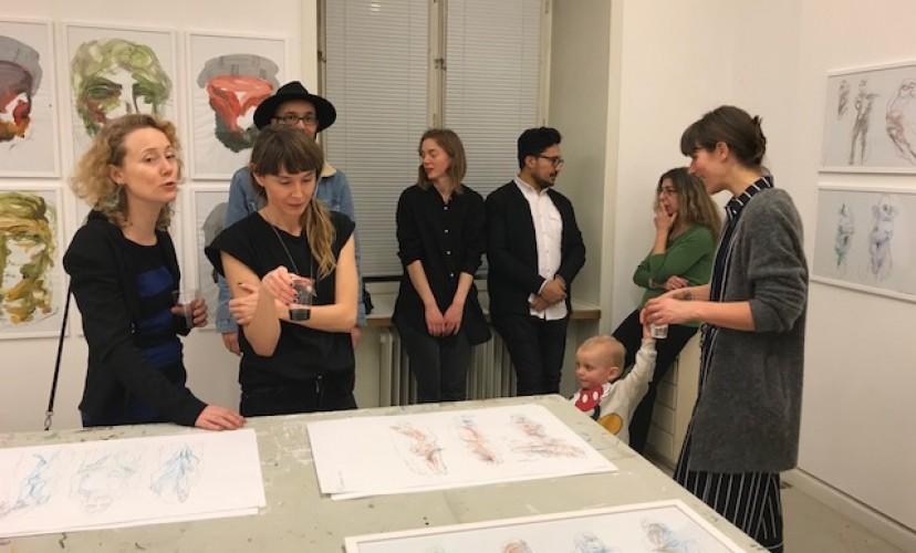 Photograph of Reza Hazare at the Nordic Guest Studio by Emilia Rosenquist