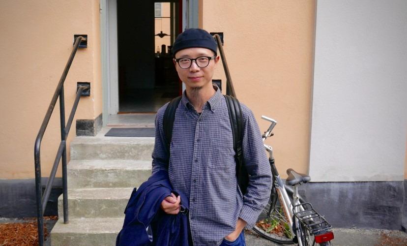 Luo Fei at the Nordic guest Studio, Malongen