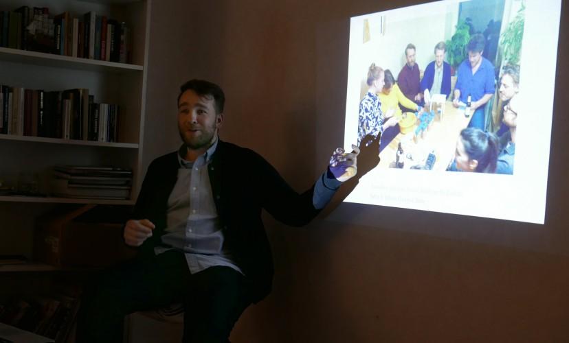 Lorenzo Sandoval  at the Nordic Guest Studio  photo: Alvaro Campo