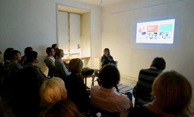 Amara Antilla at the Nordic Guest Studio, Stockholm (photo: Alvaro Campo)
