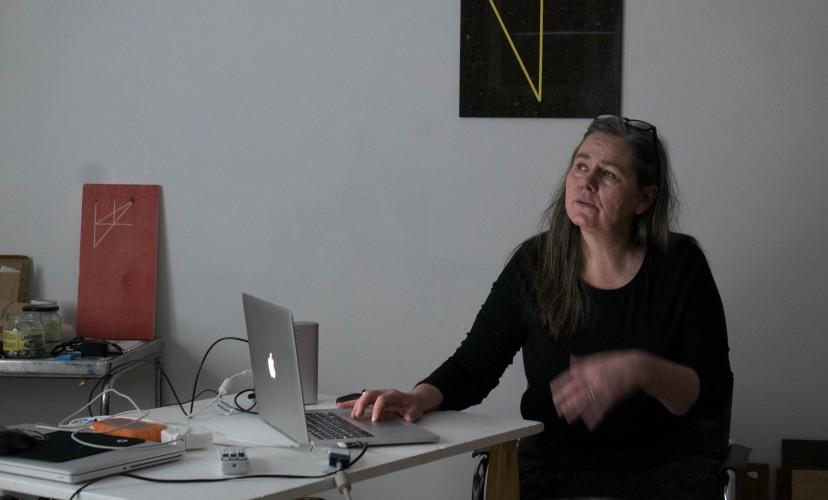 Ráðhildur Ingadóttir at the Nordic guest studio Malongen
