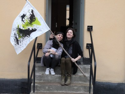 Elizabeth Ward (USA) and Andrea Creutz (SE) at the Nordic guest studio,  Malongen