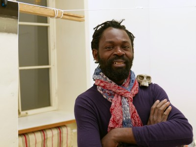 Freddy Tsimba at the Nordic guest studio, Malongen