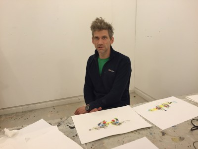 Ingirafn Steinarsson in the Nordic Guest Studio, Malongen